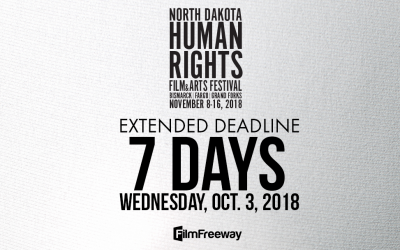 Extended submission rates end on October 3 for #NDHRFF18