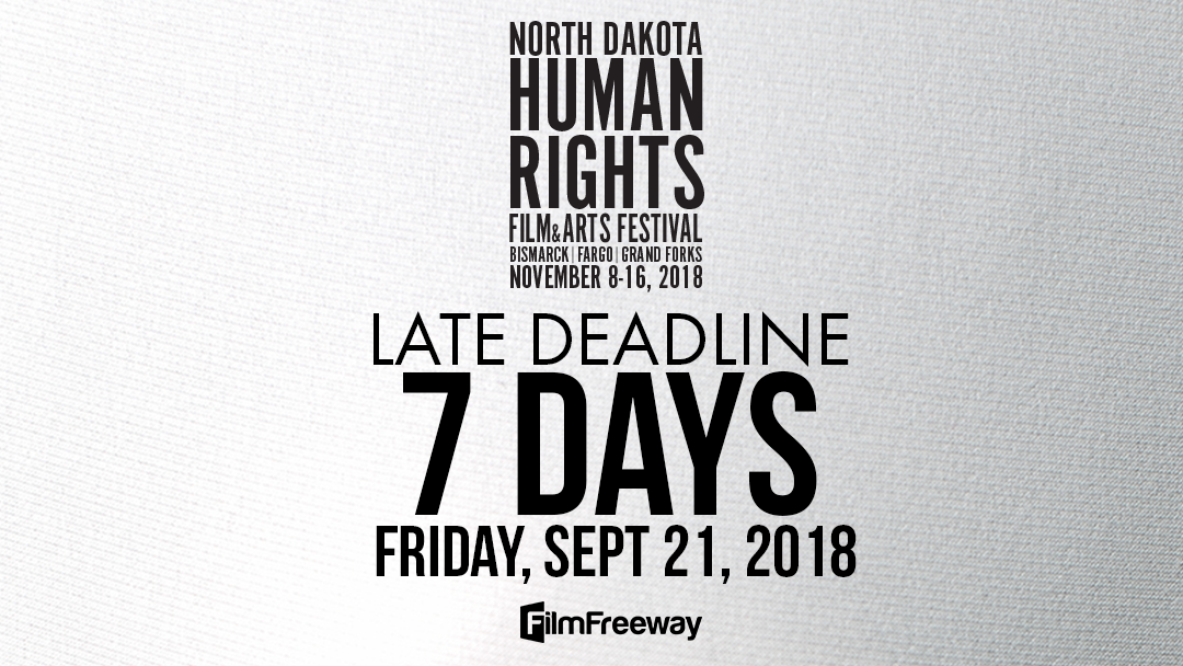 Late submission rates end on September 21 for #NDHRFF18