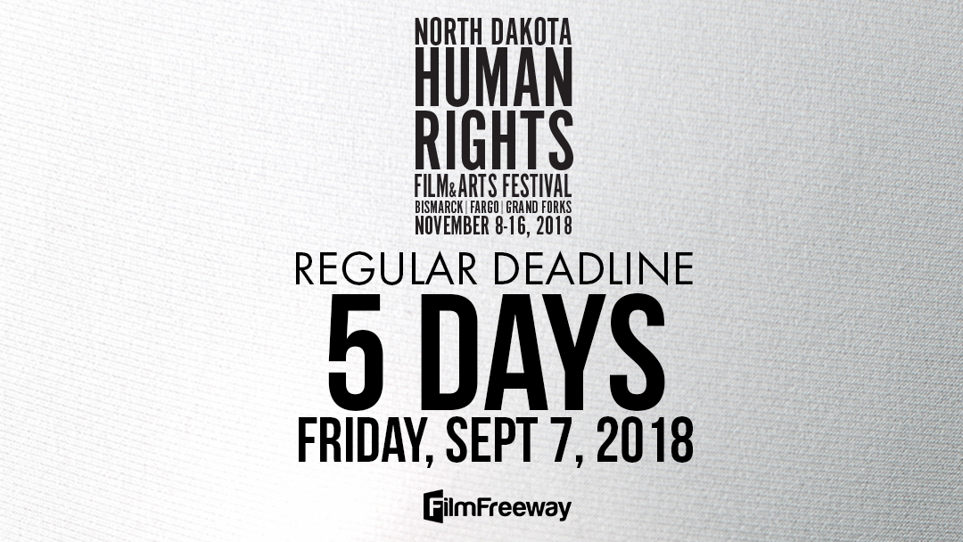 Regular submission rates end on September 7 for #NDHRFF18